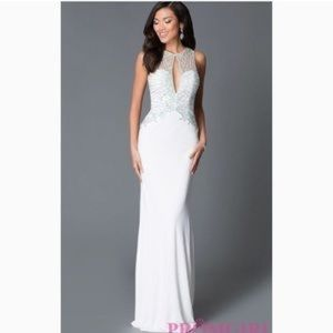 JVN by Jovani white gown